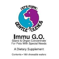 Immu GO spleen and thymus glandular supplement for dogs and cats