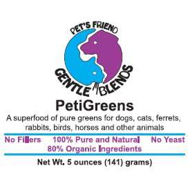 PetiGreens — organic green food supplement for dogs and cats